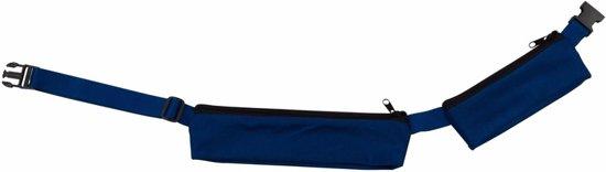 Kobalt reis heuptas met 2 vakjes 80-107 cm