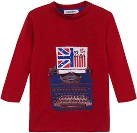 3pommes Babykleding - T-shirt rood - Maat 80