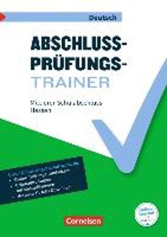 Abschlussprüfungstrainer Deutsch 10. Schuljahr - Hessen - Mittlerer Schulabschluss