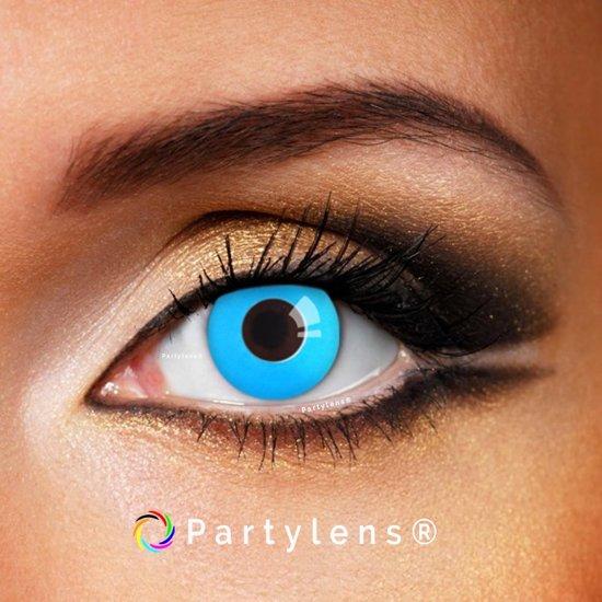 Partylenzen - Blue Out - jaarlenzen incl. lenzendoosje - kleurlenzen Partylens®