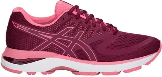asics bordeaux rood dames