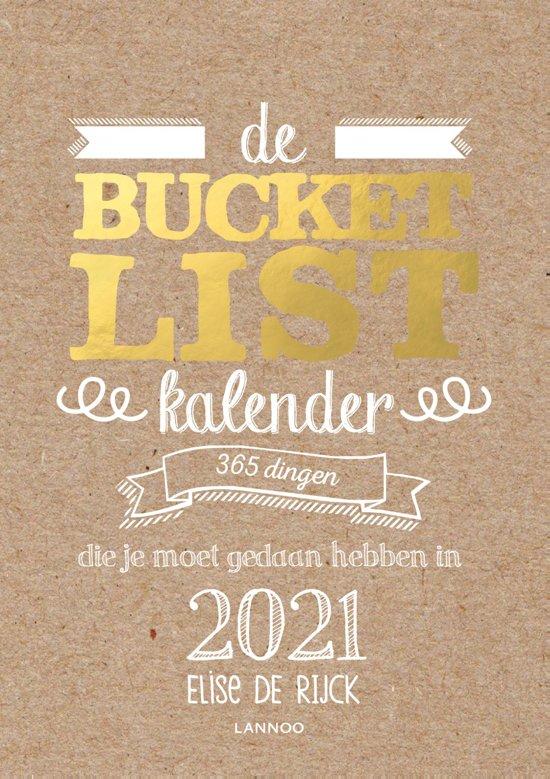Boek cover Bucketlist - De Bucketlist scheurkalender 2021 van Elise de Rijck (Paperback)