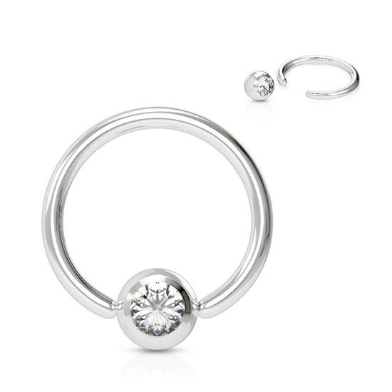 Helix piercing ringetje steentje wit �LMPiercings