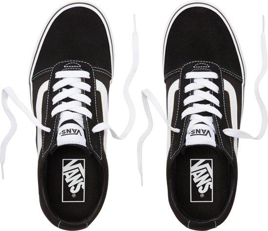 | Vans Ward Low Dames Sneakers (SuedeCanvas)Black