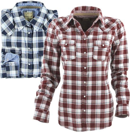 Overhemd Rood Zwart Geblokt.Bol Com Colorado Damesblouse Dames Blouse Overhemd Rood