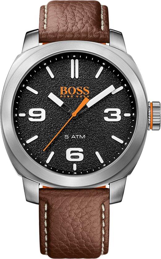 Hugo Boss Orange HO1513408 Horloge - Leer - Bruin - 46 mm