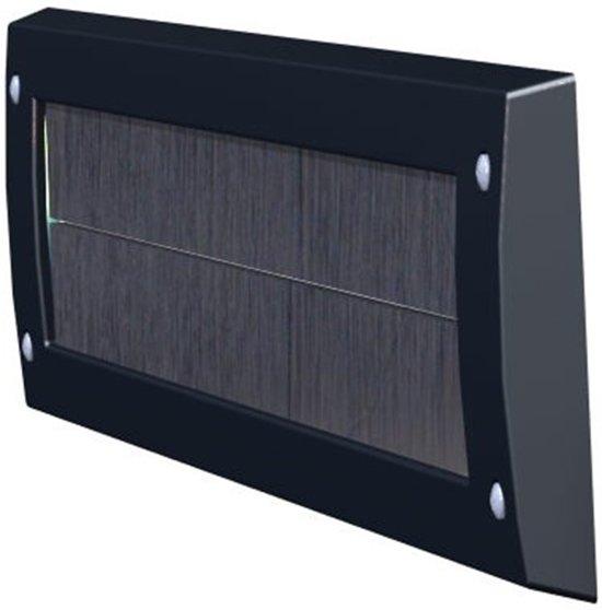 Tochtborstel 340X80mm Zwart V Briefplaat