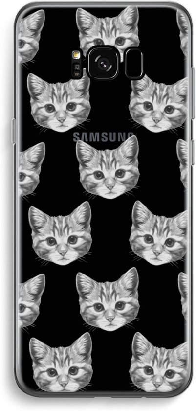 Samsung Galaxy S8 Transparant Hoesje (Soft) - Kitten