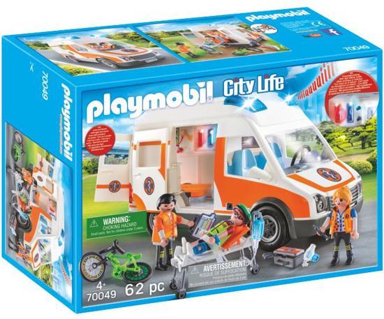 Afbeelding van PLAYMOBIL Ambulance en ambulanciers - 70049 speelgoed