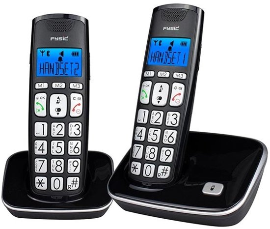 Fysic FX-7020 - Duo DECT telefoon - Zwart