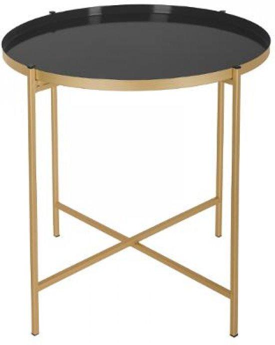Luxe Salon Tafel.Bol Com Luxe Metalen Bijzettafel Goud Zwart Gouden