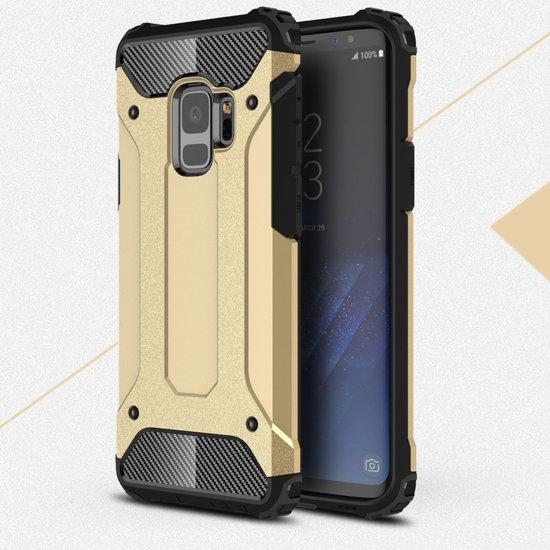 Samsung Galaxy S9 Armor Hybrid Case - Goud