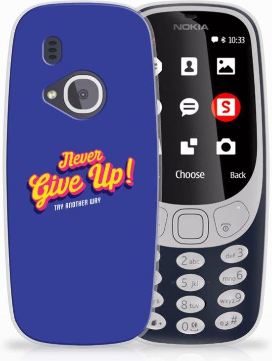 Nokia 3310 (2017) Uniek TPU Hoesje Never Give Up