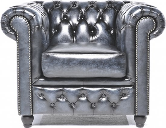 Chesterfield Fauteuils En Zetels.The Original Chesterfield Brighton Fauteuil Zetel Salon Met Arm Antiek Blauw