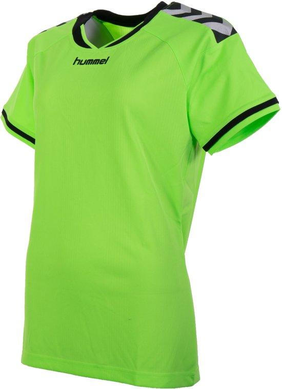 0a99bf68463 Hummel Stay Authentic Jersey Polyester Sportshirt - Maat M - Vrouwen -  groen/zwart/