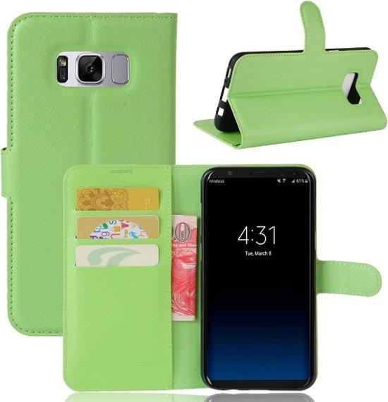Hoesje geschikt voor Samsung Galaxy S8 Plus (S8+), 3-in-1 bookcase, groen
