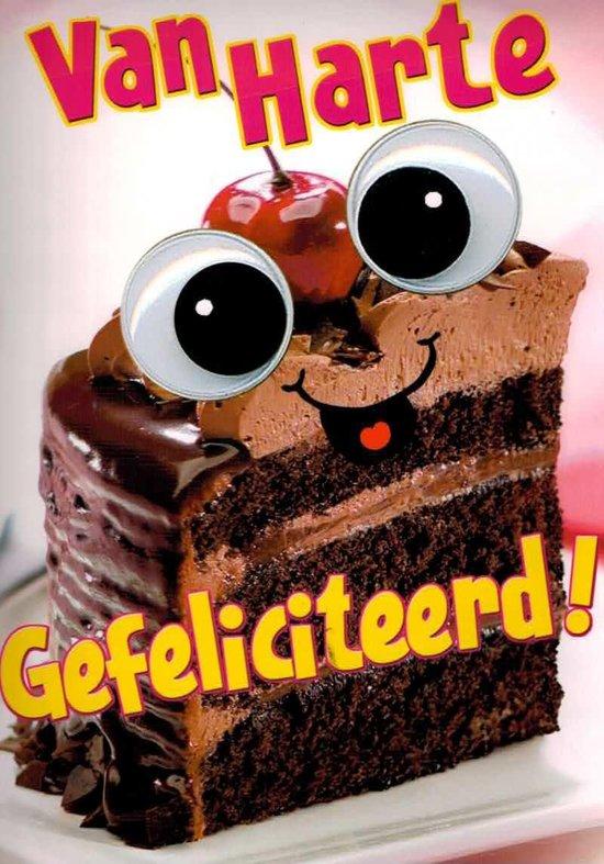 hartelijk gefeliciteerd taart bol.| Verjaardagskaart Extra Groot Van Harte Gefeliciteerd Taart hartelijk gefeliciteerd taart