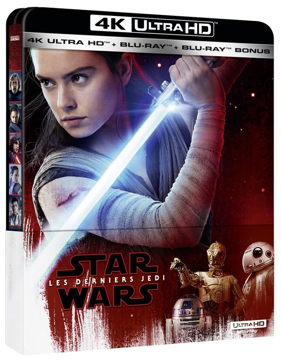 DVD cover van Star Wars Episode 8: The Last Jedi (4K Ultra HD Blu-ray) (Import)