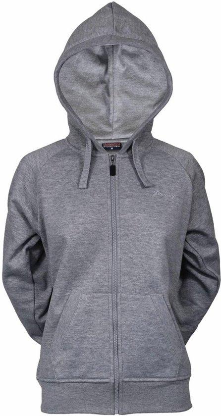 Donnay sweater met capuchon - Sporttrui - Dames - Maat S - Grijs gemêleerd