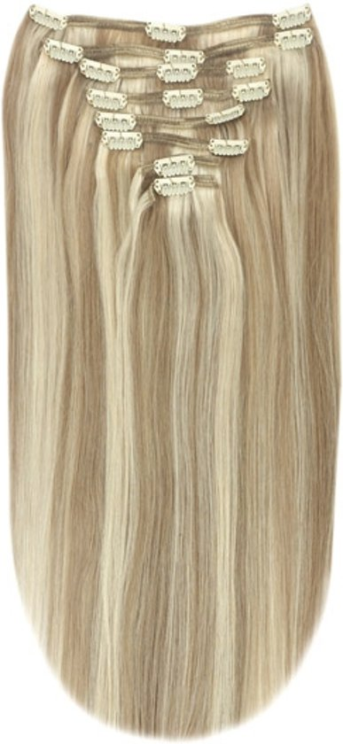 Remy Human Hair extensions Double Weft straight 16 - blond 18/613#