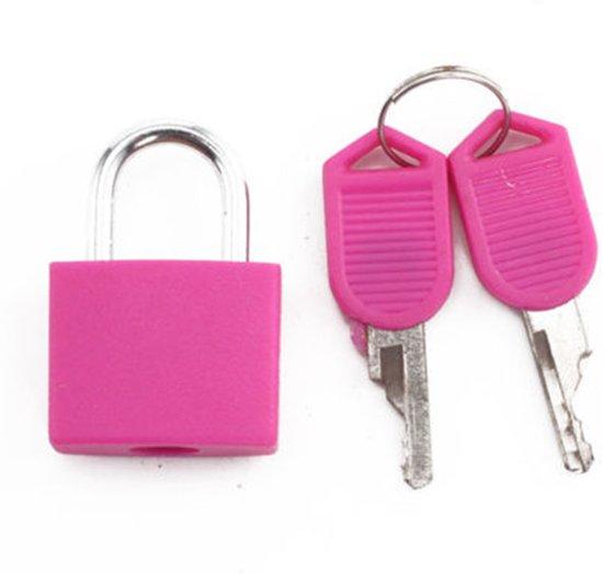2x Roze slotje mini