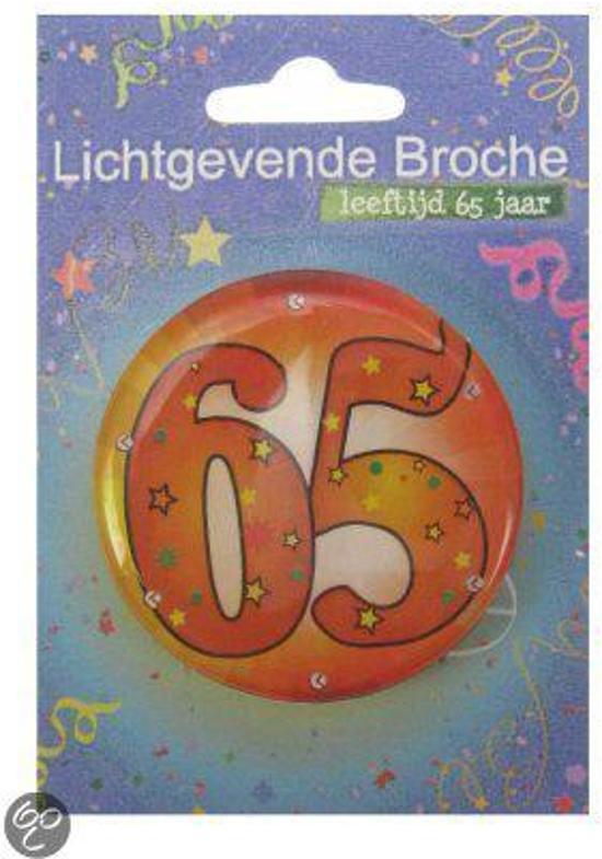 Button leeftijd 65 jaar met licht