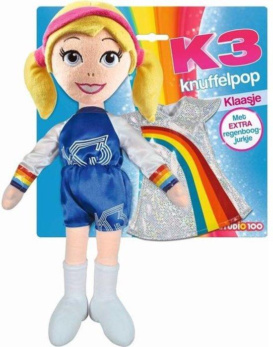 K3 knuffelpop met extra kleedje 40cm Klaasje
