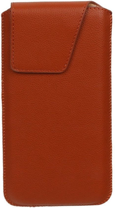 BestCases.nl Sony Xperia Z3 Compact - Universele Leder look insteekhoes/pouch Model 1 - Bruin Medium