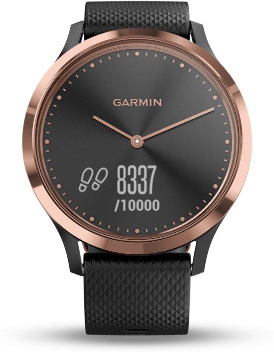 Garmin Vivomove HR - Hybride Smartwatch - Roségoud/zwart - Small/Medium