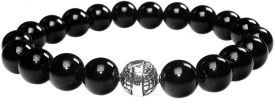 Bela Donaco  Heren armband Luxury B10 - Onyx en Sterling Zilver