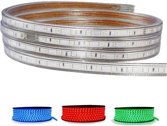LED Strip RGB - 1 Meter - Dimbaar - IP65 Waterdicht 5050 SMD 230V - BSE
