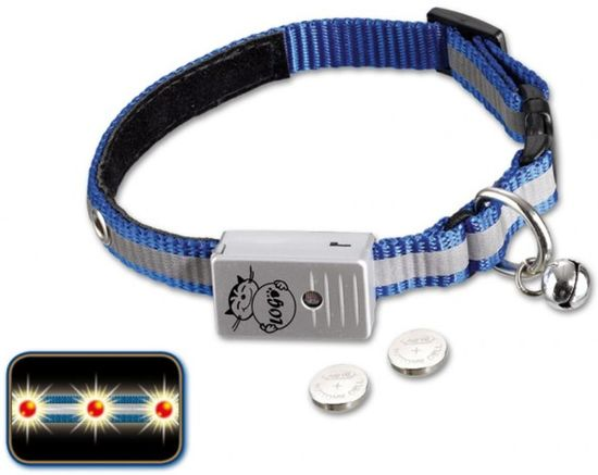 Nobby halsband starlight led met verlichting blauw - 1 ST