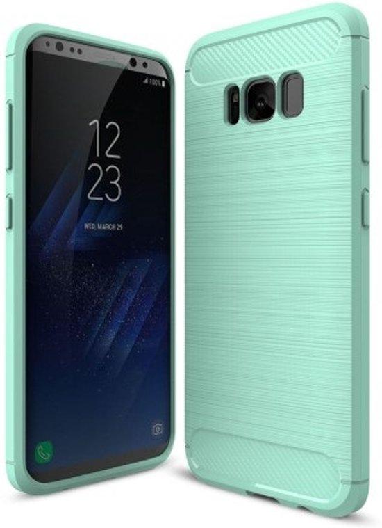 Turquoise Brossé Cas Tpu Pour Samsung Galaxy S8 T5XT0AB