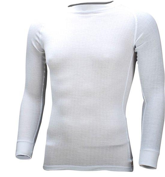 Thermoshirt Sportshirt Thermo - Winter Sport Voetbal Skiën - Heren - Compressie - Lange Mouwen - Wit - Maat XL