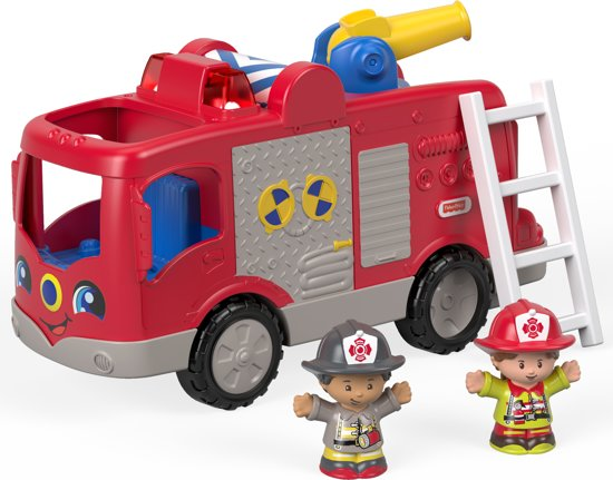 Fisher-Price Little People Grote Brandweerauto - Speelfigurenset