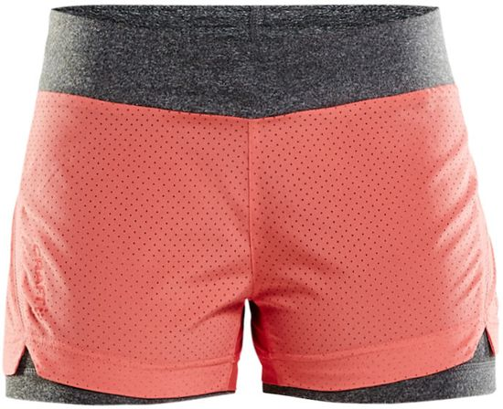 Craft - Breakaway 2-in-1 Shorts W - hardloopshorts dames - Dahlia - L