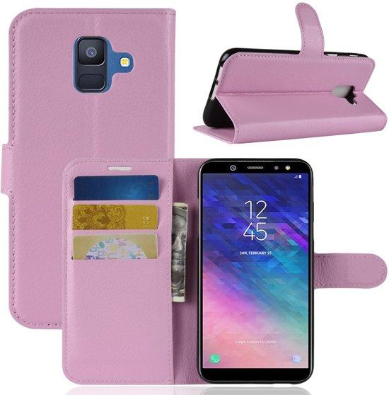 Book Case Hoesje Samsung Galaxy A6 (2018) - Pink