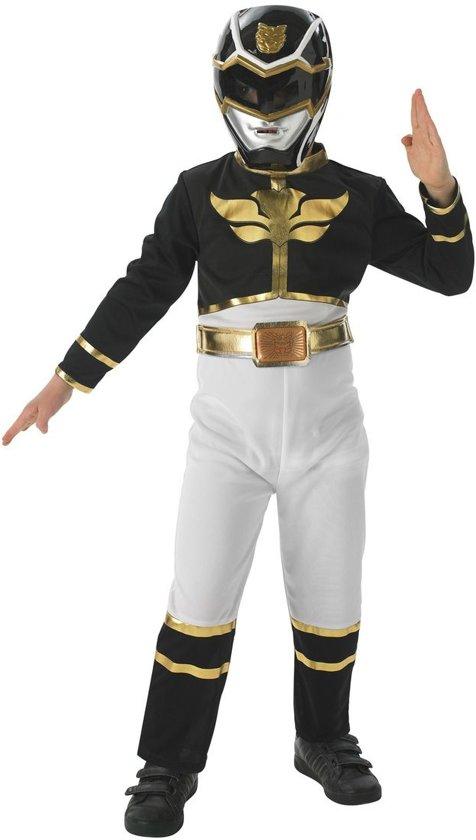 Zwarte power ranger Megaforce kostuum kind - Maat 5-6