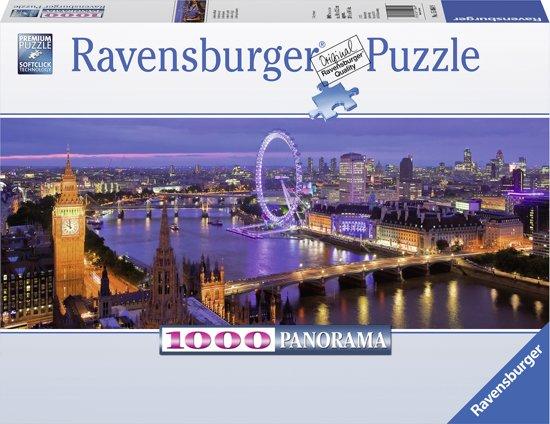 Ravensburger puzzel Londen bij nacht - panorama - Legpuzzel - 1000 stukjes
