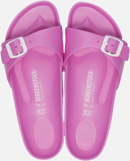 Birkenstock Madrid Eva - Slippers - Dames - Maat 39 - Roze neon