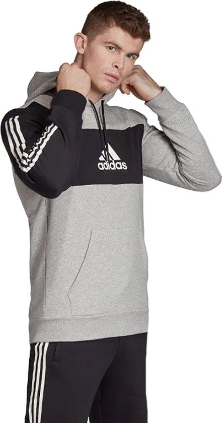 adidas Sport ID PO Heren Sporttrui Medium Grey HeatherBlack Maat XXL