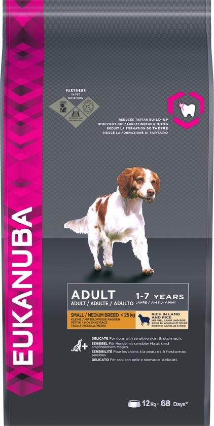 Eukanuba Dog Adult - Small & Medium Breed - Lam/Rijst - Hondenvoer - 12 kg