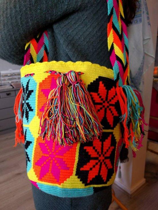 Yellow Wayuu Flower Flower Mochila Yellow Mochila Wayuu Wayuu UpVGqSMz