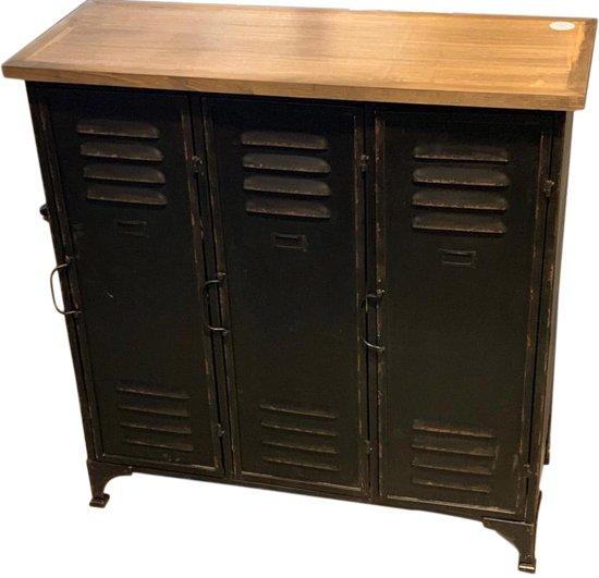 Verbazingwekkend bol.com | Industrieel LOCKER dressoir kastje 90 cm YL-19