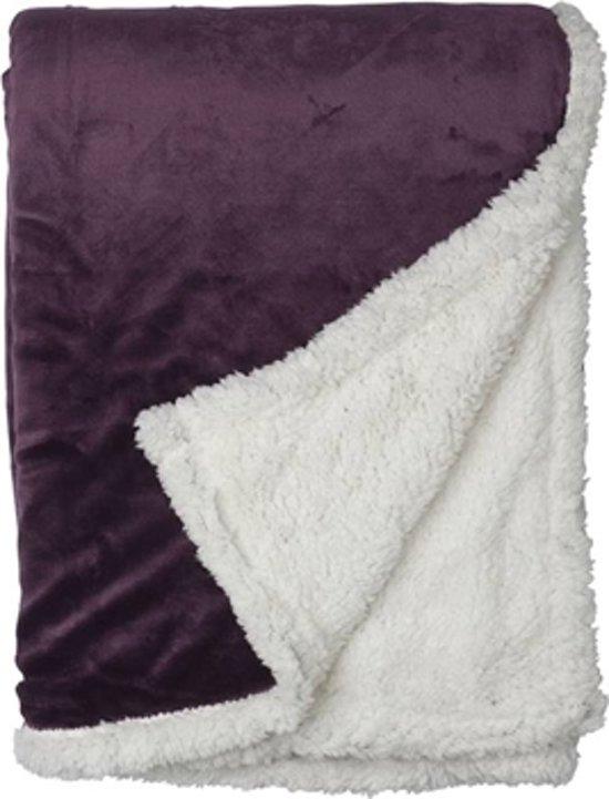 Snoozing Uni fleece plaid Magenta 150x200 cm