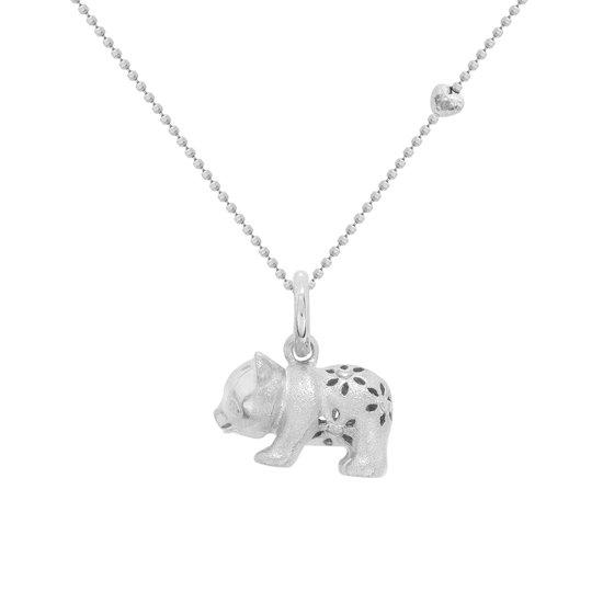 Blossom Copenhagen - Zilveren charm Gerodineerd - Panda beer