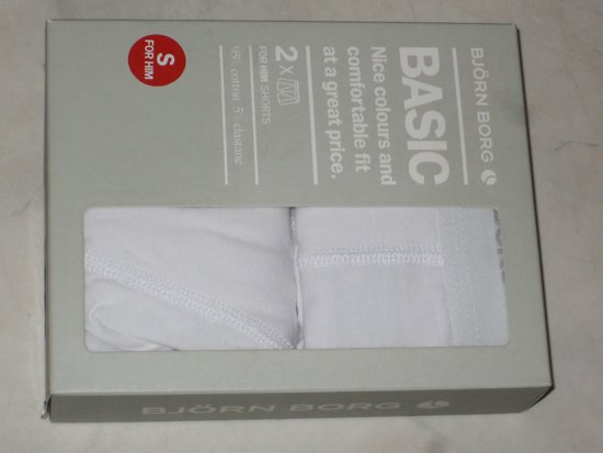 Björn Borg Basic shorts - 2 Stuks - Wit - Maat S