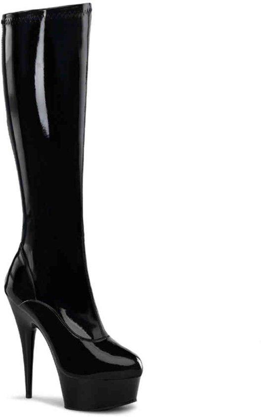 EU 45 = US 14 | DELIGHT-2000 | 6 Heel, 1 3/4 PF Stretch Knee BT, Side Zip