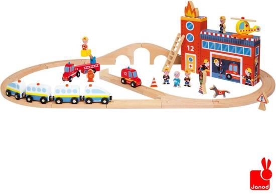 Janod Story Express - De Brandweer + Rails
