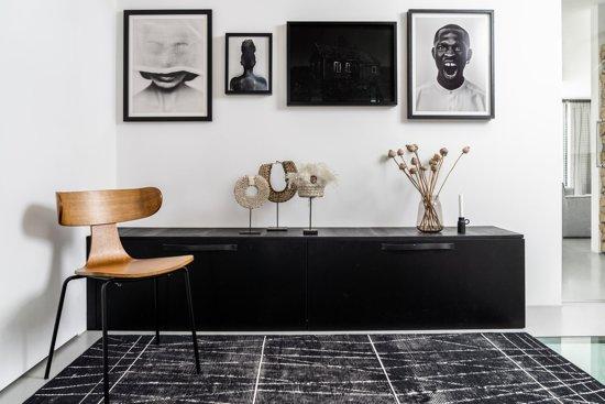 Vloerkleed Modern Artline met strepen Zwart 190 x 290